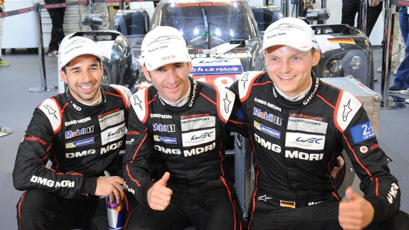 Die Porsche-Piloten freuen sich