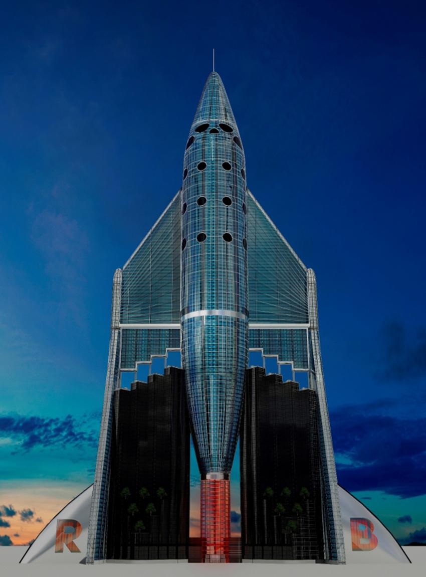 So könnte heute der Virgin-Tower aussehen.