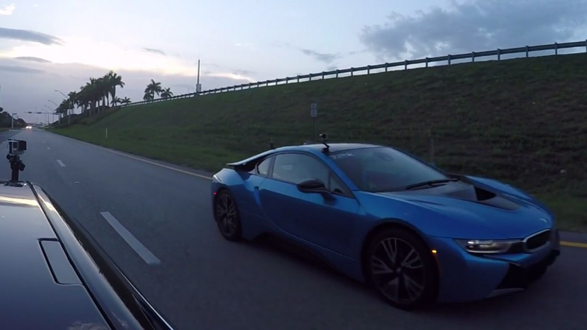 BMW i8 vs. Tesla P85D Insane Mode