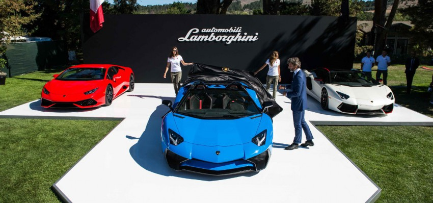 Enthüllung Lamborghini Aventador Roadster SV in The Quail