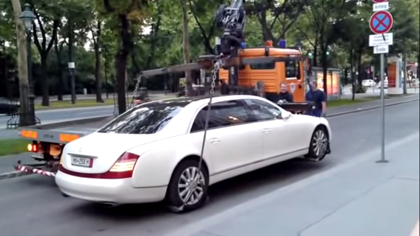 maybach 62s parkring abschleppen