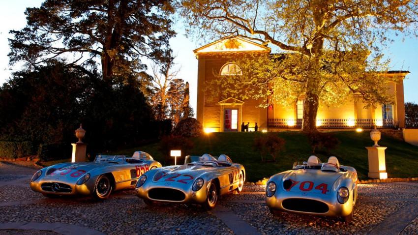 Mercedes-Benz 300 SLR Rennsportwagen (W 196 S) beim Classic Insight ?Erfolgsgeschichten 1955?, 22. April 2015 in Italien