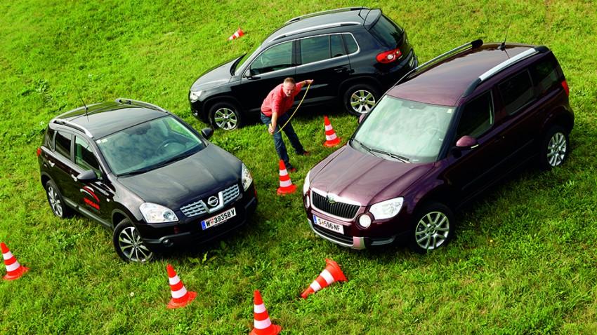 Skoda Yeti, Nissan Qashqai, VW Tiguan