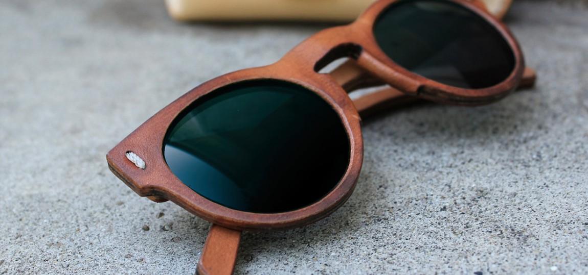 Diese Sonnenbrillen bestehen zu (fast) 100% aus Leder