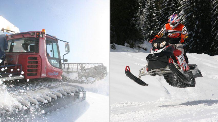Endlich Pistenraupe oder Snowmobile selber fahren