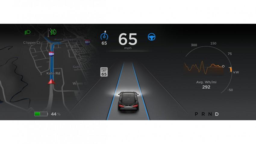 Teslas Autopilot kommt per Software-Update