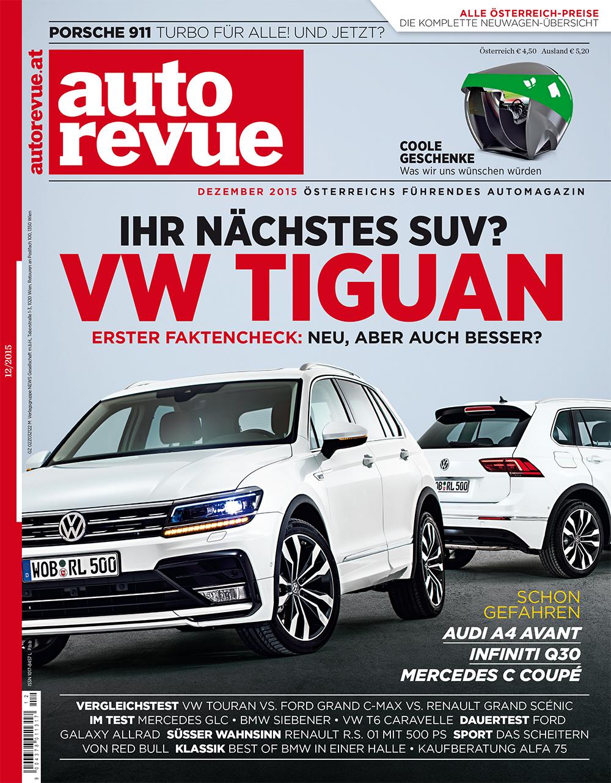 autorevue cover ausgabe dezember 2015