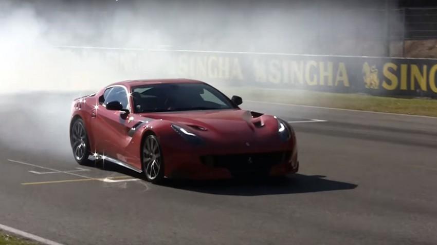 Der neue Ferrari F12tdf in Aktion