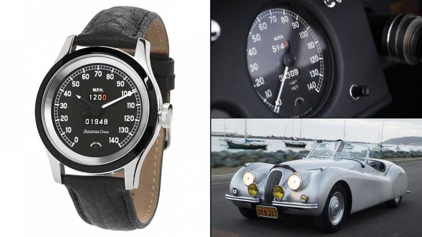 Jaguar-XK-120-Tacho-Uhr
