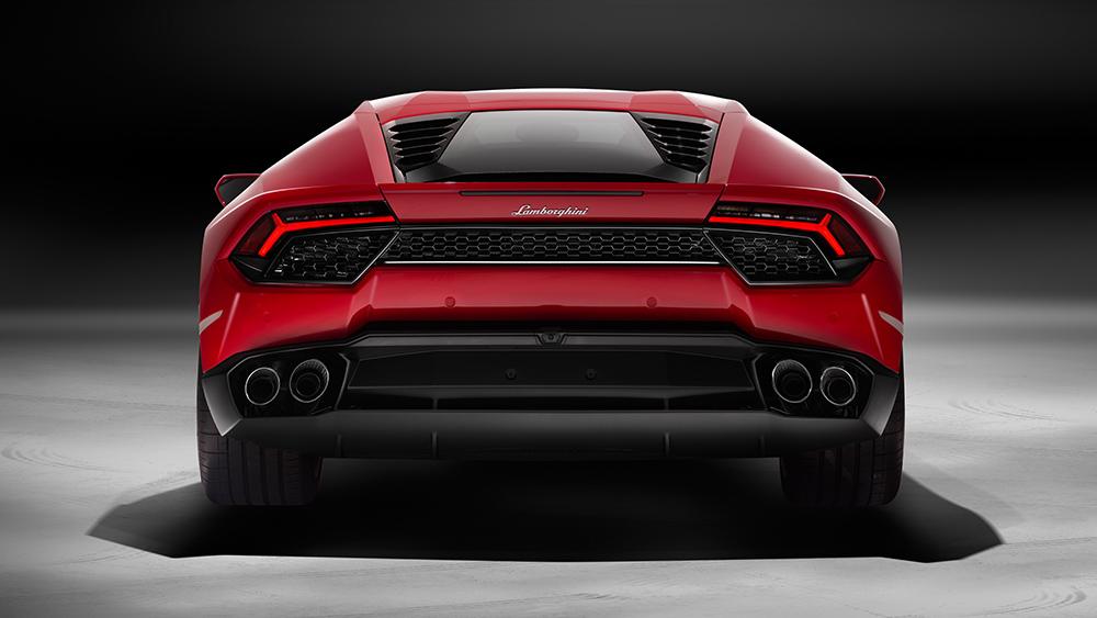 Lamborghini Huracan LP580-2 2016 rot hinten heck auspuff