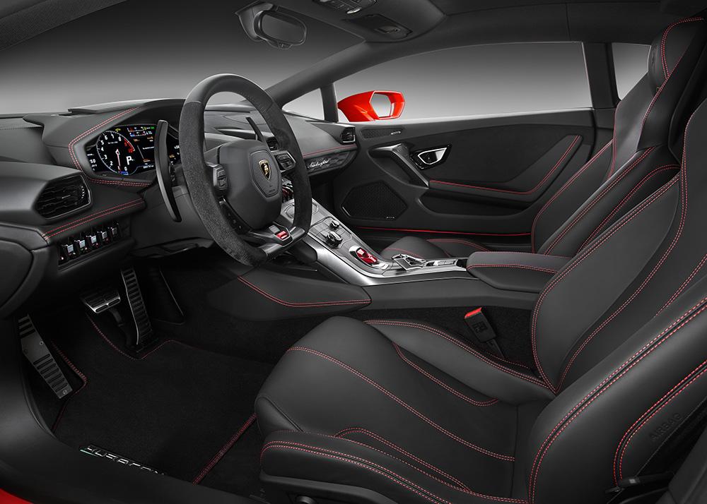 Lamborghini Huracan LP580-2 2016 rot innen innenraum lenkrad sitze armaturen armaturenbrett