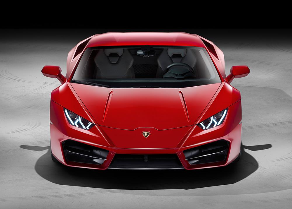 Lamborghini Huracan LP580-2 2016 rot vorne front scheinwerfer