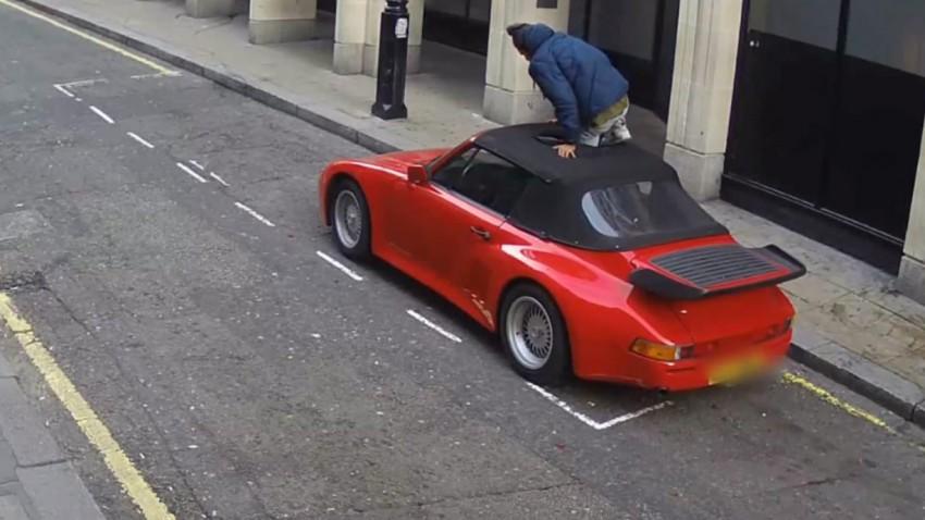 porsche 911 cabrio dieb london
