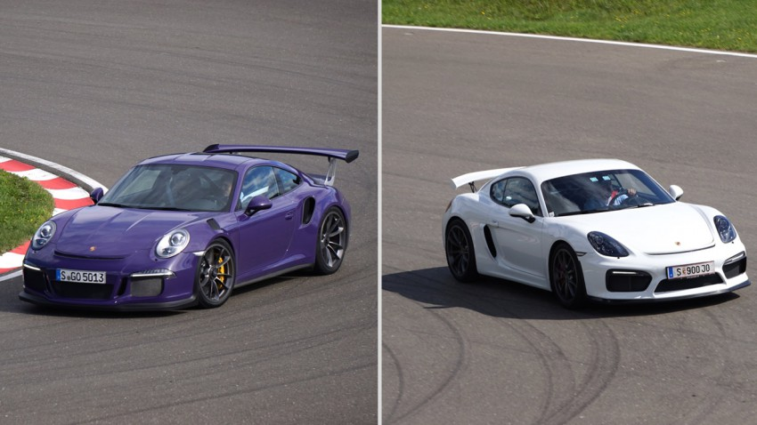 Supertest 2015: Porsche Cayman GT4 vs. 911 GT3 RS