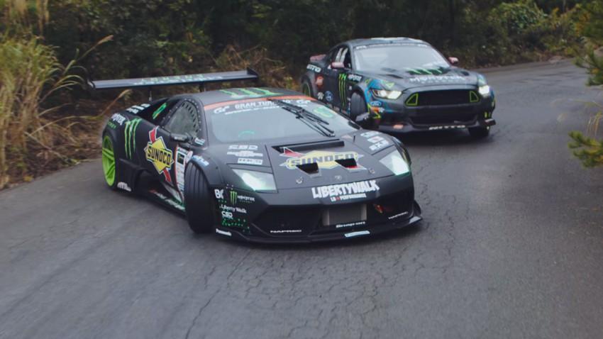 Lamborghini V12 vs. Mustang RTR