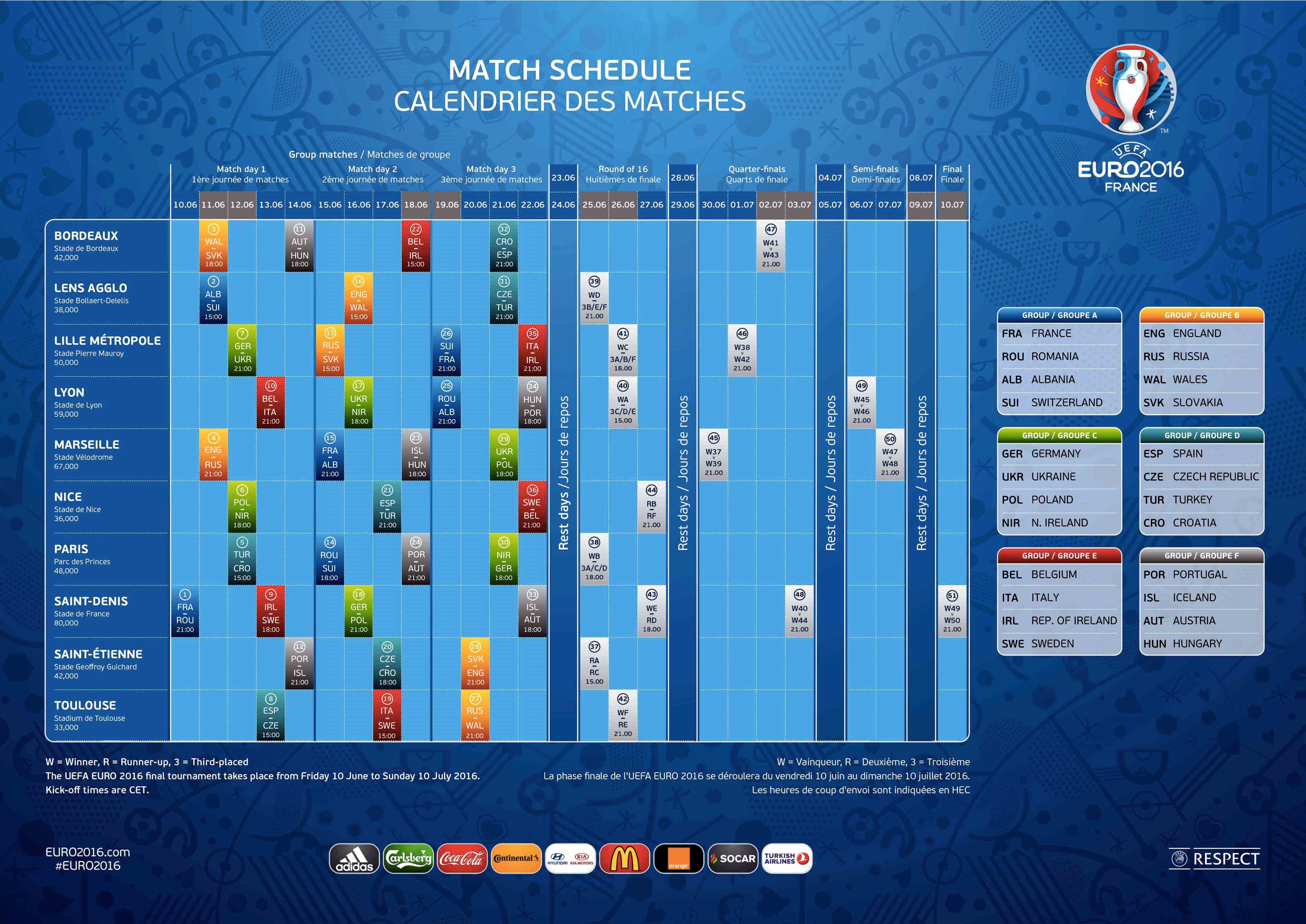 Spielkalender Em