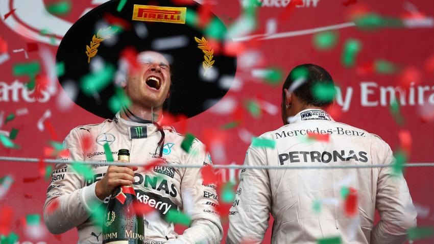 Nico Rosberg und Lewis Hamilton nach dem Grand Prix von Mexiko 2015