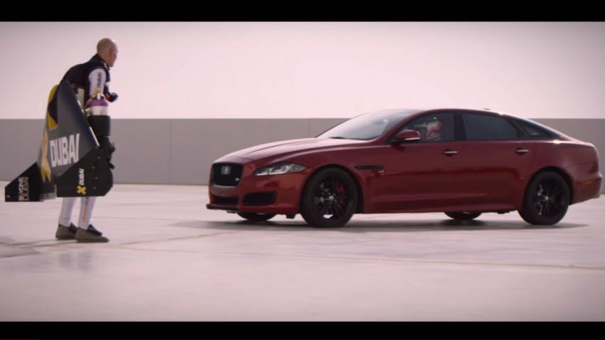 Mit dem Jetpack gegen den neuen Jaguar XJR