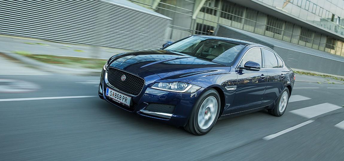 jaguar xf e-performance diesel 2015 front vorne seite scheinwerfer