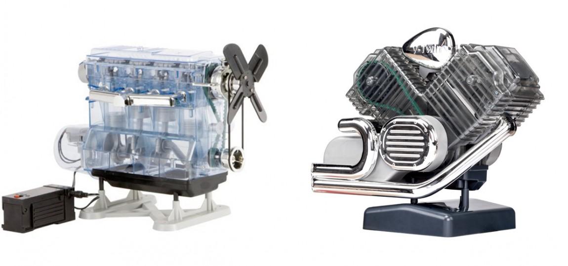 4-Zylinder-Reihen- und V2-Motorradmotor zum Selberbauen
