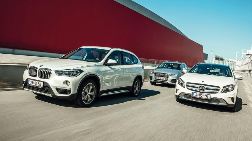 Vergleich: Audi Q3 / BMW X1 / Mercedes GLA – Die Höhen der Zeit