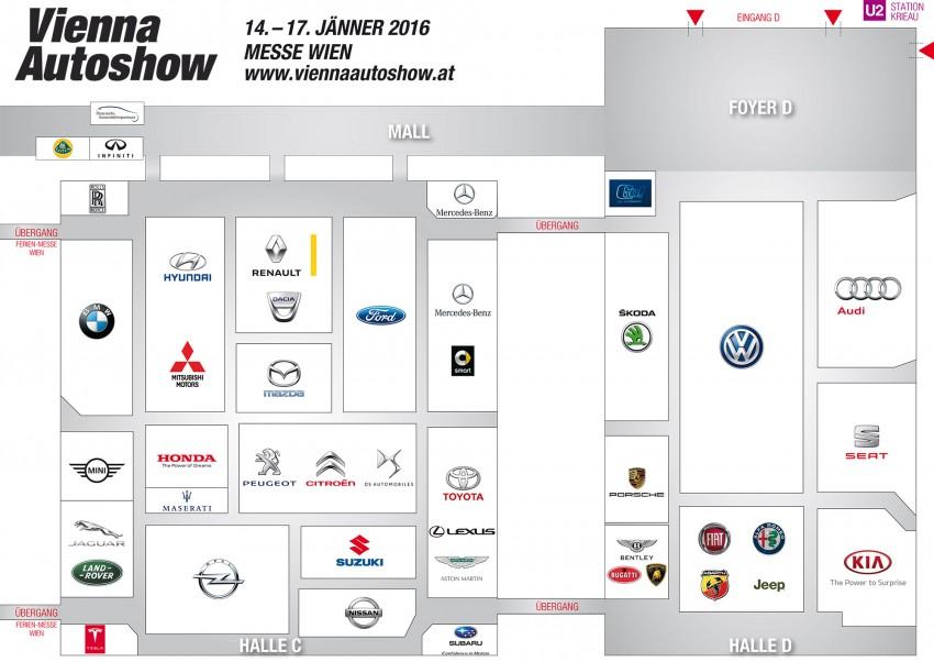 Vienna Autoshow Hallenplan 2016