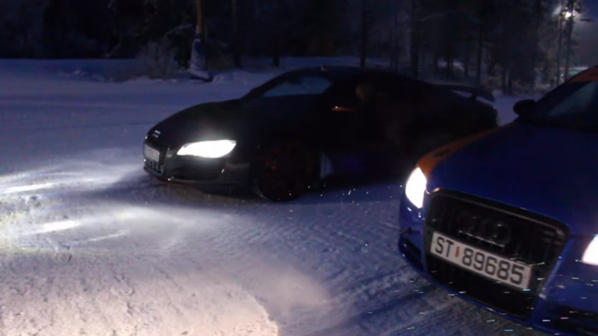 Showdown auf der Skipiste: R8 vs. RS4