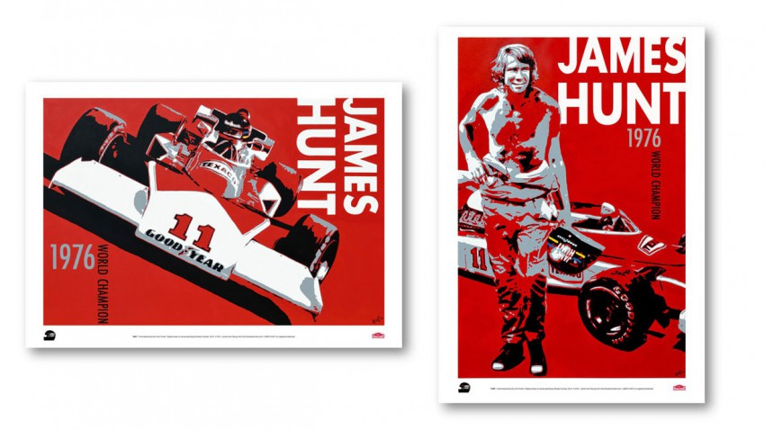 James Hunt Racing Poster
