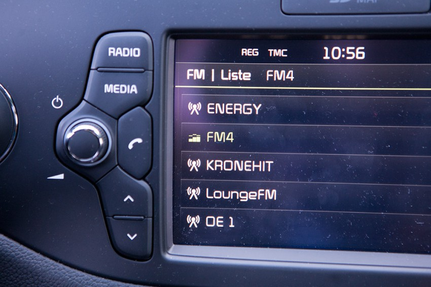 Kia ceed gt 2016 rot display detail radio