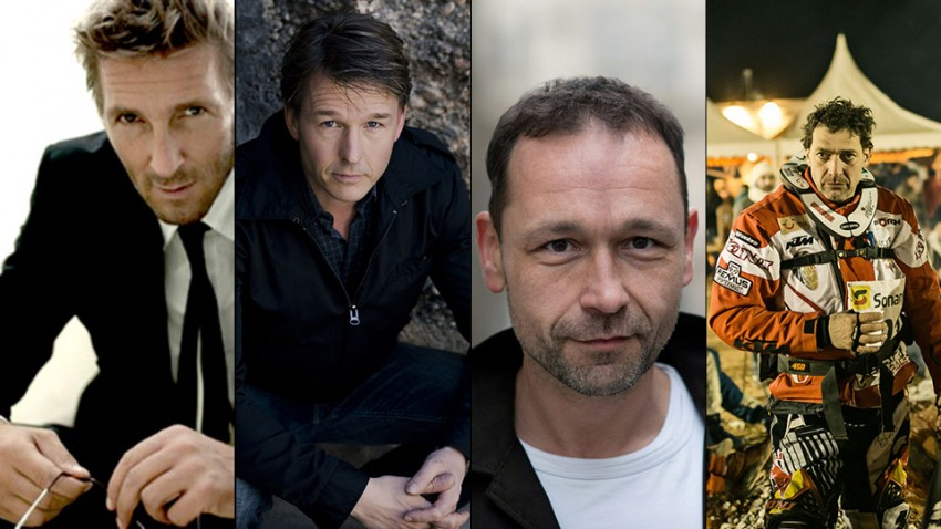 Gerald Votava, Mark Keller, Serge Falck und Gregor Bloéb am 20.2.2016 zu Gast im autorevue.tv-Studio