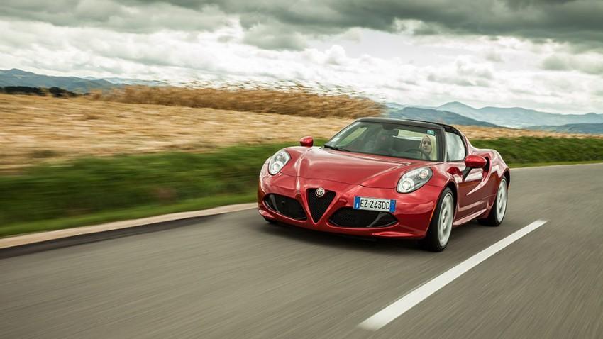 Alfa Romeo 4C Spider: Das tiefe Einatmen des Turboladers