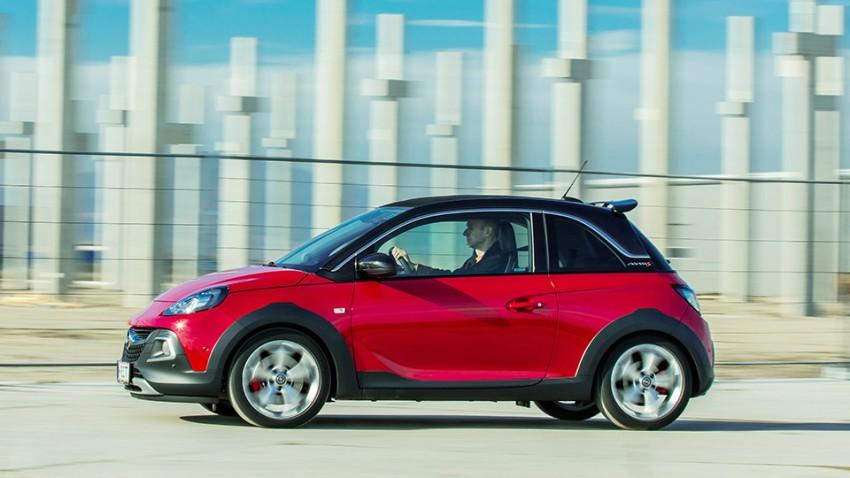 Opel Adam S Rocks rot seite felgen seitlich