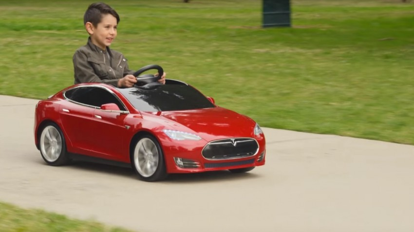 Das Tesla Model S gibt's auch für Kinder