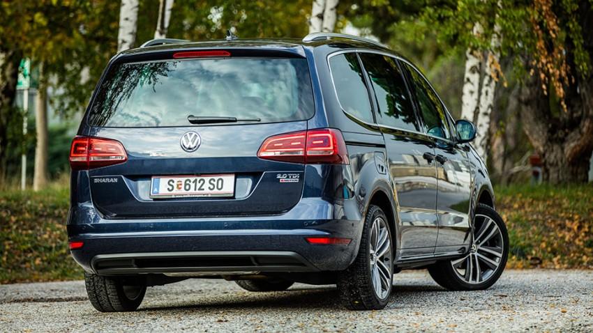 VW Sharan TDI SCR: 7 Mann in 1 Boot