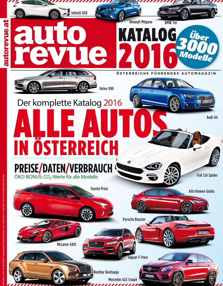 Autorevue Katalog 2016 - alle Autos, die 2016 in Österreich erhältlich waren