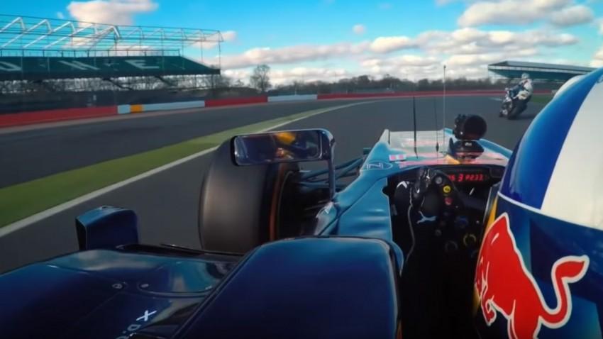 Formel 1-Bolide vs. Superbike