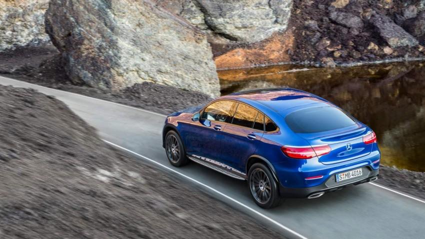 Mercedes GLC Coupé - aufgebockt zum Ziel