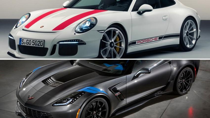 Glaubensfrage: Porsche 911 R oder Corvette Grand Sport?
