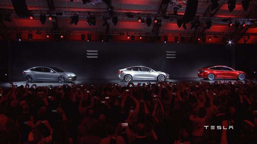 Tesla Model 3 2016 neu Präsentation Musk