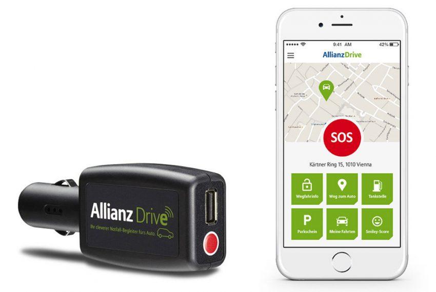 allianz-drive-stecker-zigarettenanzünder-smartphone-app