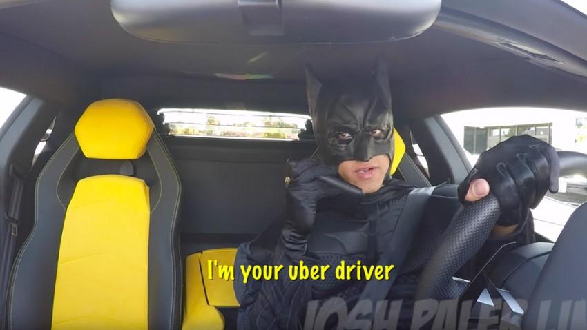 Uber Prank: Batman im Aventador