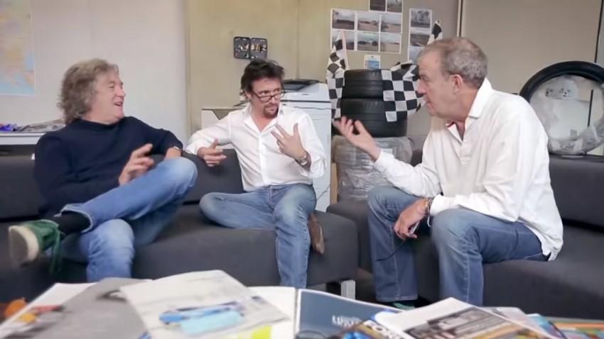Clarkson, Hammond und May brainstormen Namen für ihre neue Amazon-Show