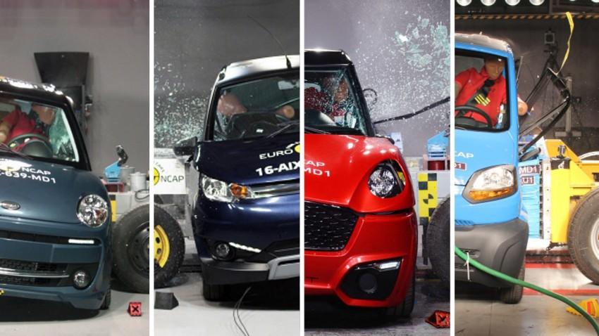 Diese 4 Mopedautos haben 5 Sterne im Crashtest erhalten – zusammen!