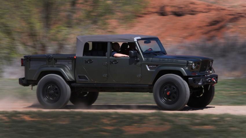 Der Pick-Up von Jeep sieht so aus