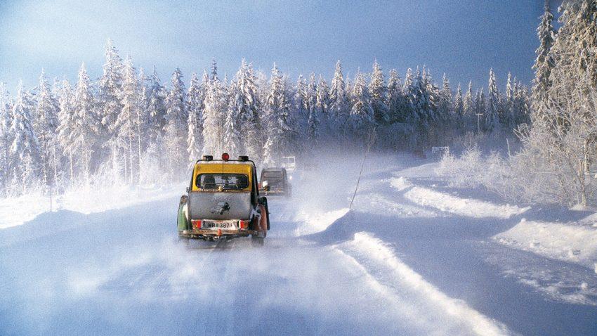 Entenfahren in Finnland: Minus Vierundvierzigeinhalb