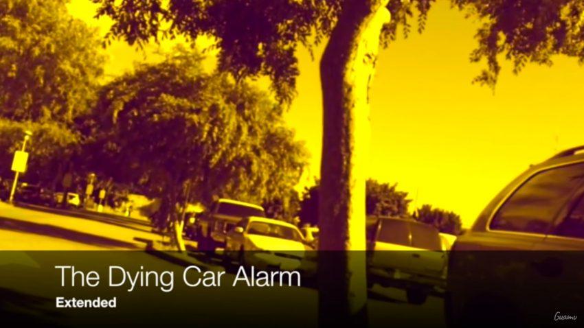 dying car alarm