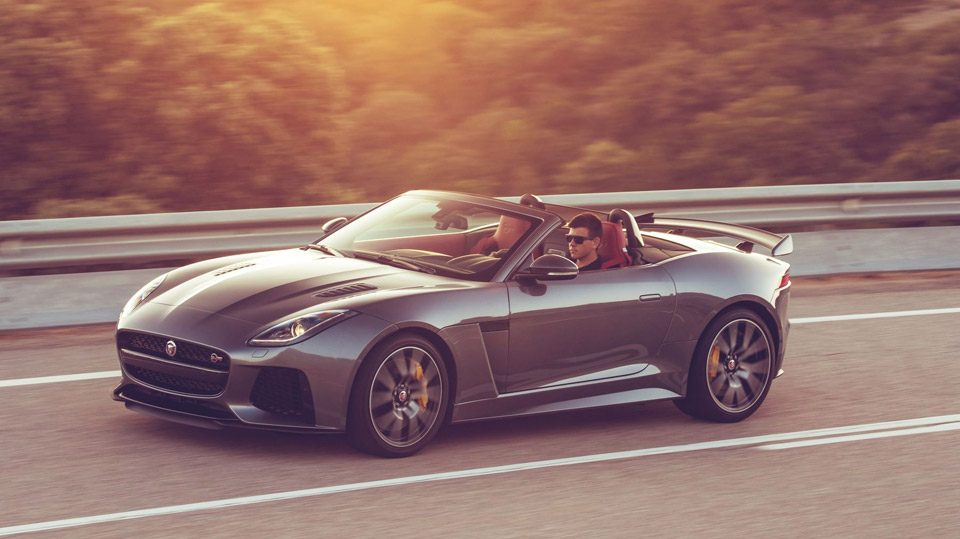 fahrbericht jaguar f type svr cabriolet 2017. Black Bedroom Furniture Sets. Home Design Ideas