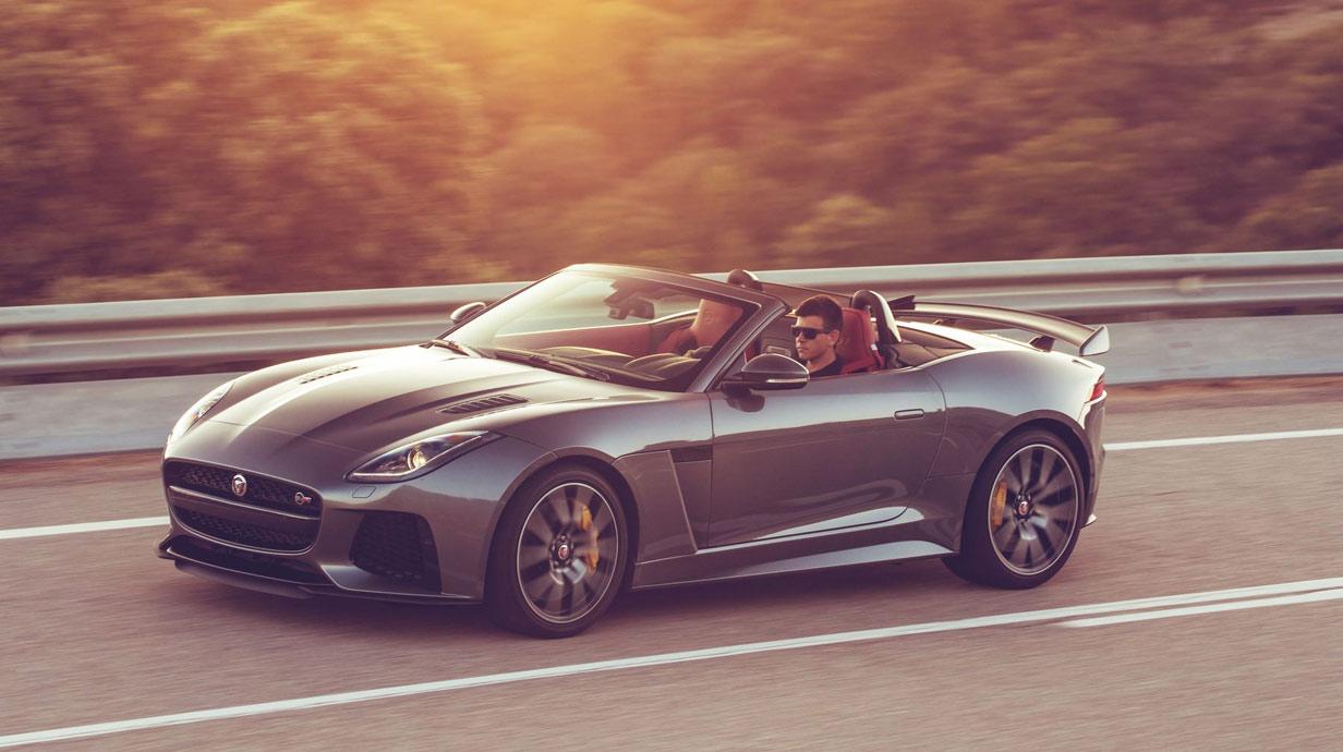 fahrbericht jaguar f type svr cabriolet 2017. Black Bedroom Furniture Sets. Home Design Ideas