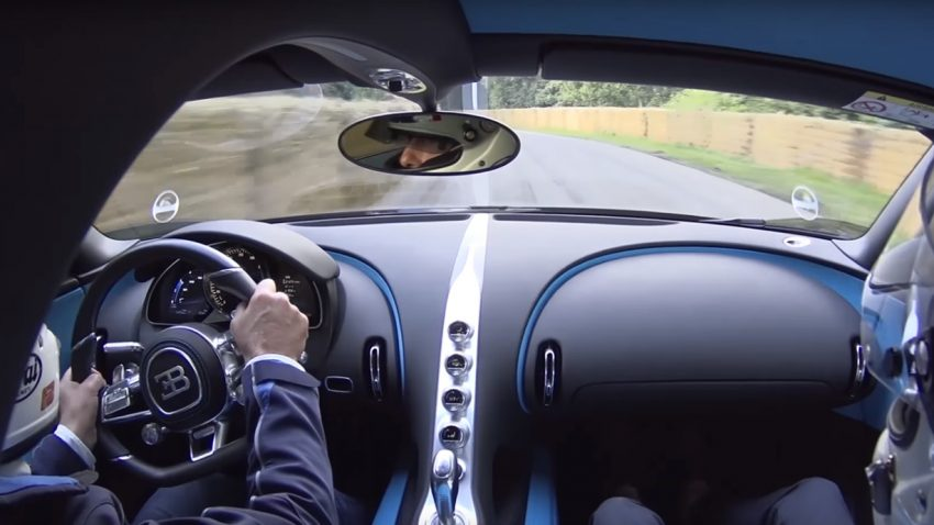bugatti chiron onboard goodwood
