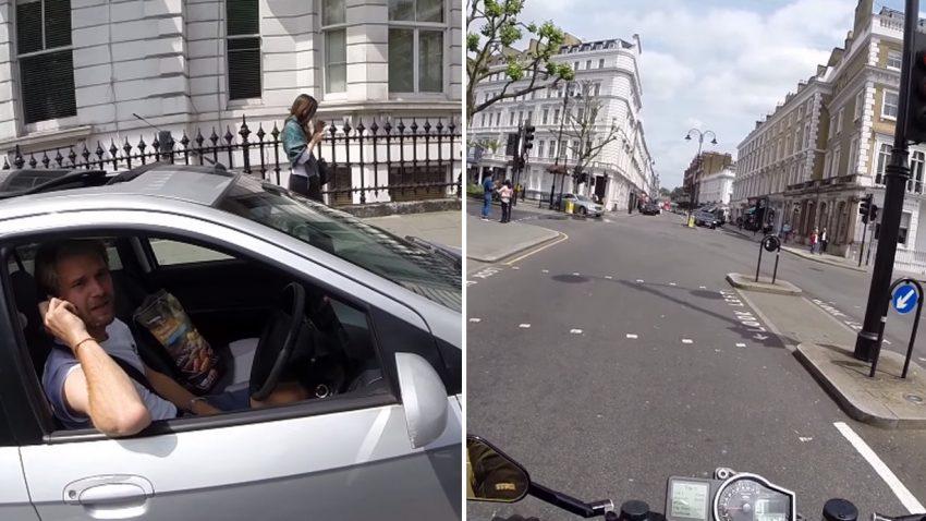 Telefonieren am Steuer: So reagieren Motorradfahrer richtig